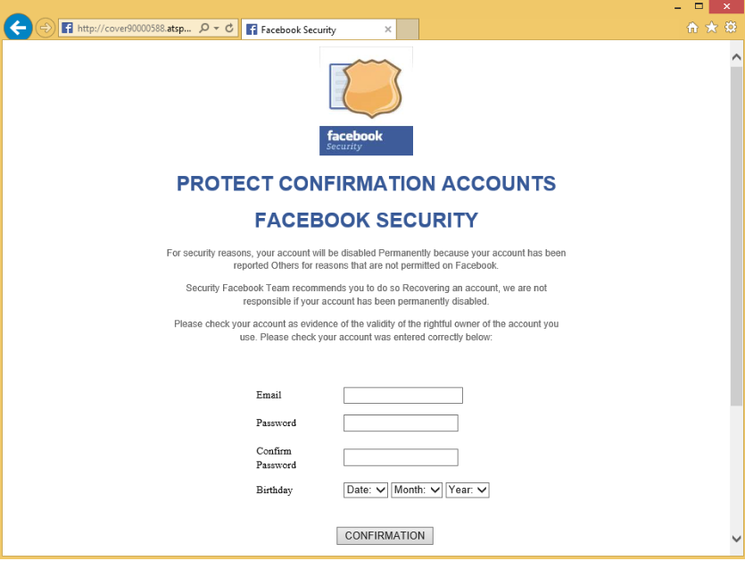 Facebook Virus Stealing Passwords
