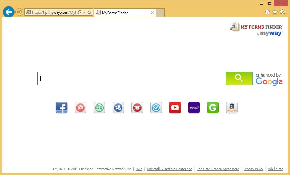 MyFormsFinder Toolbar