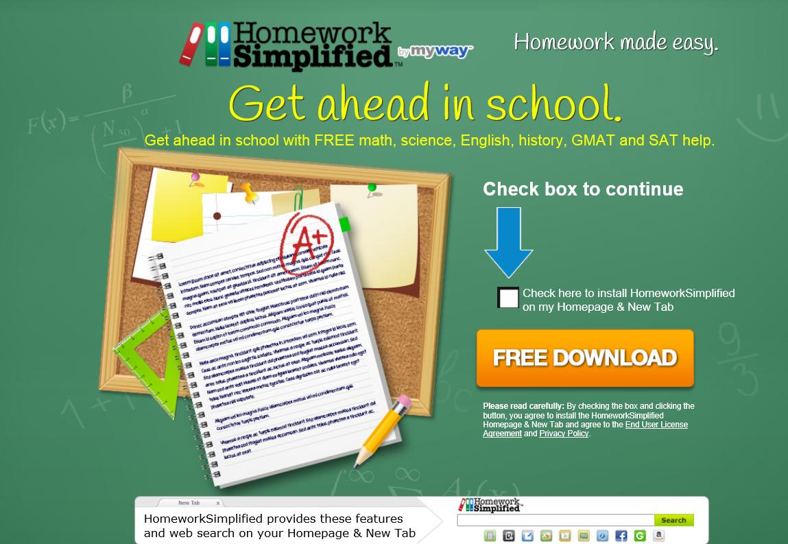 HomeworkSimplified Toolbar