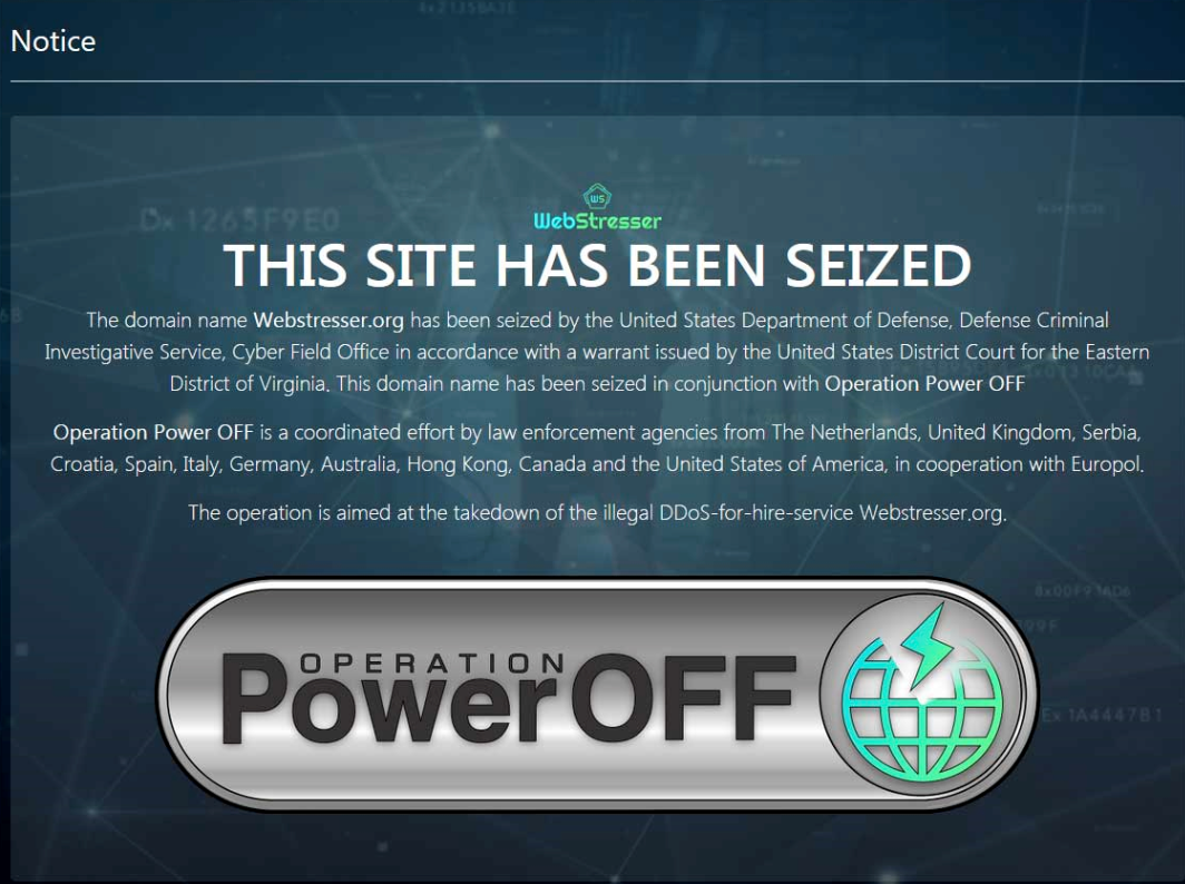 World's largest DDoS-for-Hire service shutdown by Europol