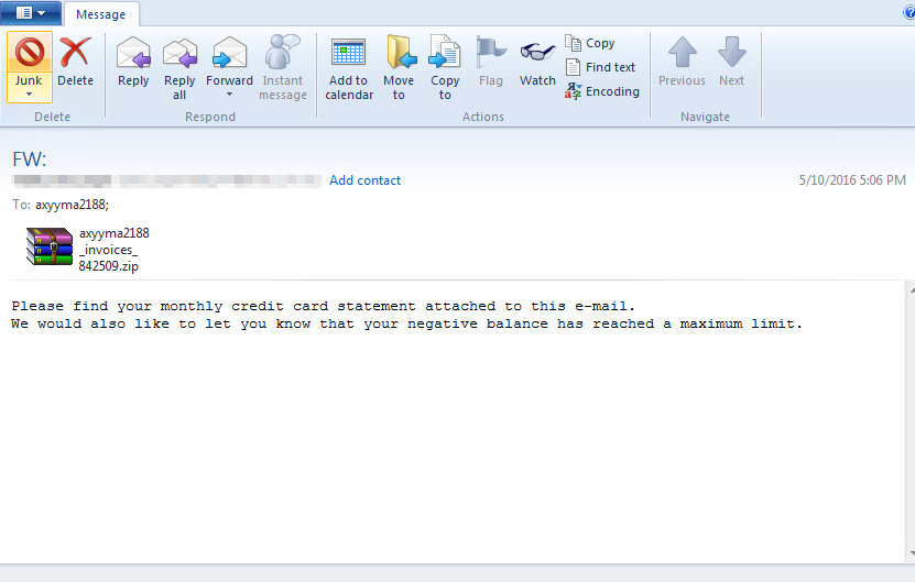Spam email attachments