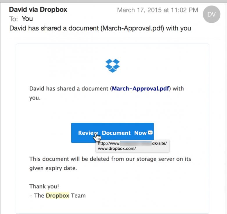 What is Dropbox virus