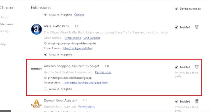 Amazon Assistant Ads