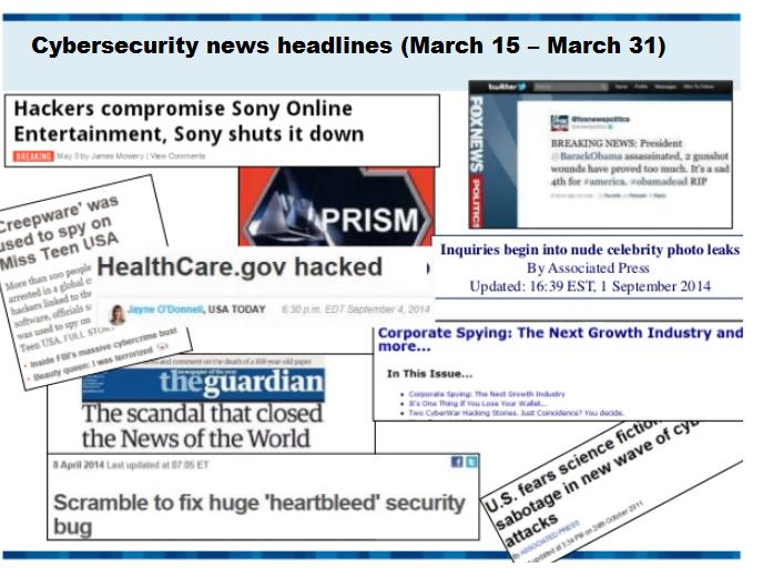 Cybersecurity news headlines