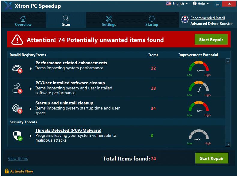 Xtron PC Speedup removal
